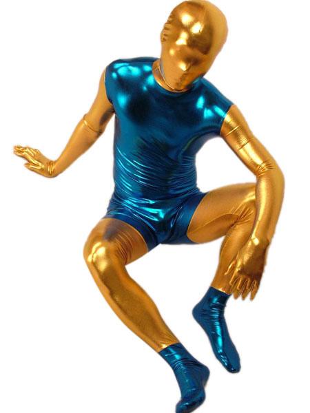 Milanoo coupon: Shiny Metallic Zentai Suit Halloween  Full Bodysuit