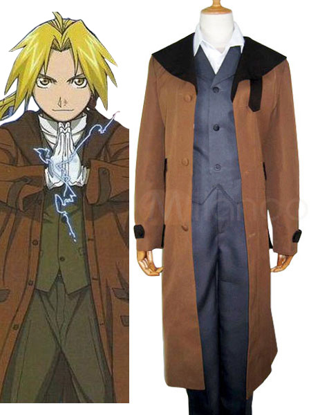 Milanoo coupon: Fullmetal Alchemist Edward Cosplay Costume