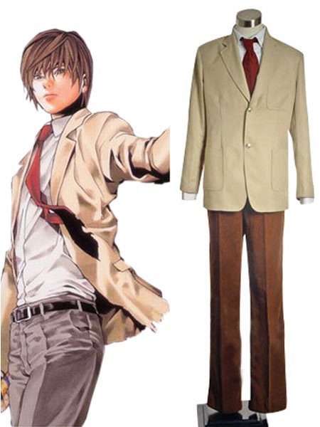 Milanoo coupon: Death Note Yagami Light Halloween cosplay costume