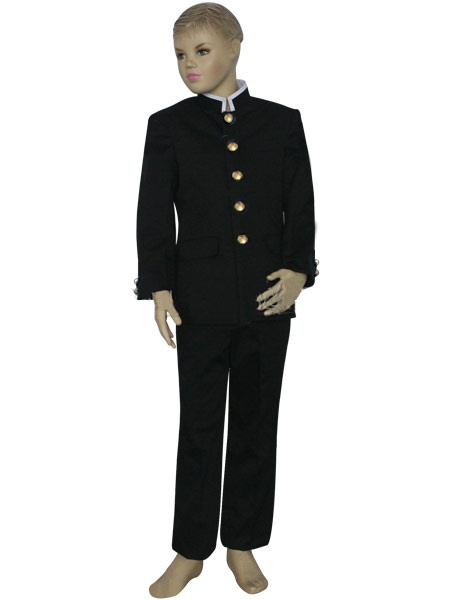 Milanoo coupon: Black And White Uniform Cloth Formal School Uniform Boys Cosplay Costume