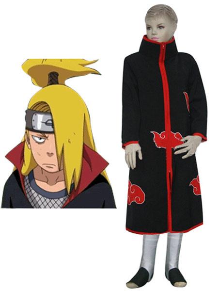 Milanoo coupon: Black Faux Leather Spandex Naruto Akatsuki Deidara Kids Cosplay Costume