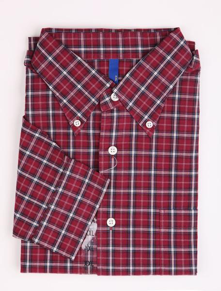 Milanoo coupon: Casual Purple Check 100% Cotton Mens Shirt