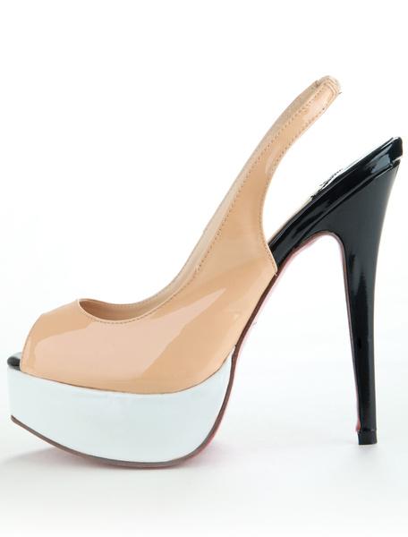 Milanoo coupon: Sling Back Peep Toe Shoes
