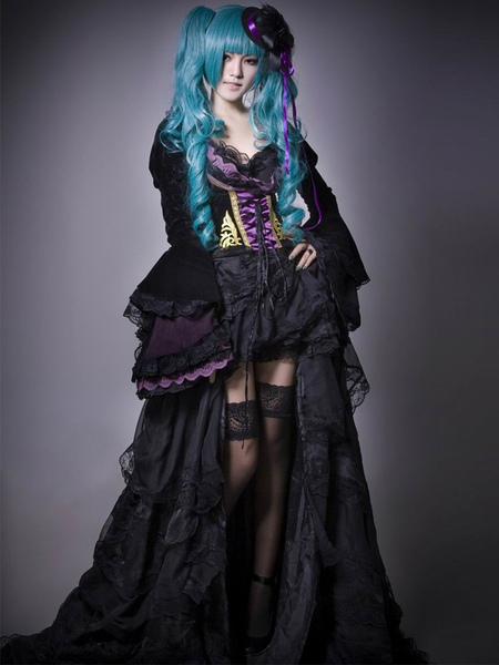 Milanoo coupon: Vocaloid Hatsune Miku Halloween Cosplay Costume The Grave Of The Scarlet Dragon