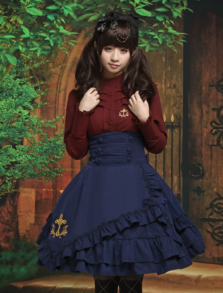 Long Sleeves Cotton Blend Multi Color Lolita Outfits