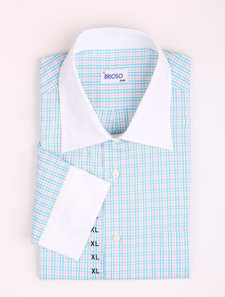 Milanoo coupon: Casual Blue And Red 100% Cotton Mens Long Sleeves Shirt