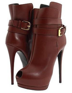 Milanoo coupon: 5 1/2'' High Heel Red Sheepskin Buckle Women's Booties