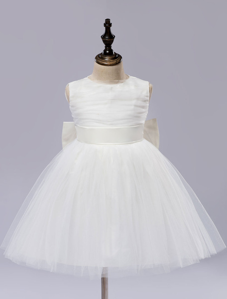 Tutu Flower Girl's Dress Ball Gown Girl's Pageant Dress Knee-length With Back Bows