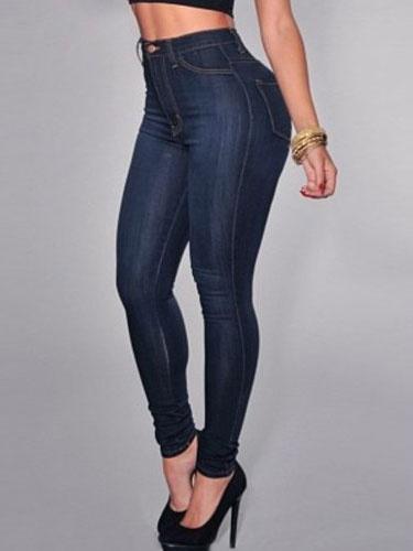 Women's Skinny Jeans High Waist Slim Fit Blue Denim Jeans