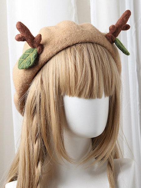 Image of Dolce berretto Lolita in lana di renna a foglie sottili di berretto Lolita