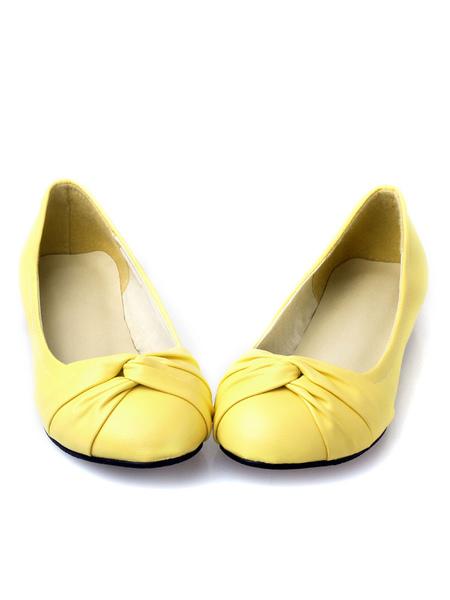 Milanoo Women's Round Toe Ballet Flats Comfortable Flats
