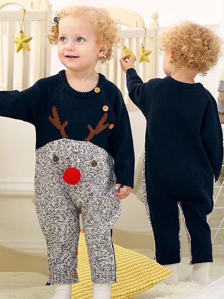 Image of Carnevale Pigiama in cotone lavorato a maglia per bambini con pigiama natalizio e pigiama di Kigurumi Halloween