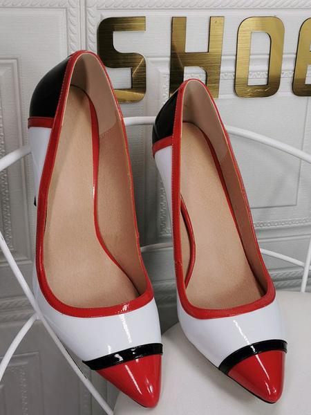 Image of Tacchi alti taglie forti per donna Tacchi a spillo con punta a punta Tacchi alti sexy bianchi di moda