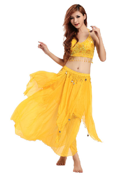 Shiny Chiffon Belly Dance Outfits for Women