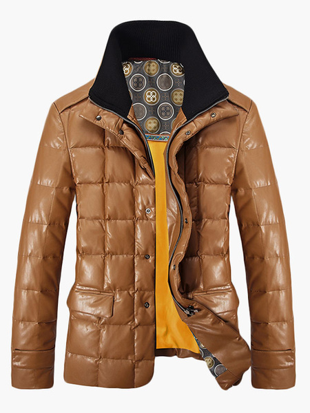 New Trend Stand Colar Men's Down Jacket With Pockets