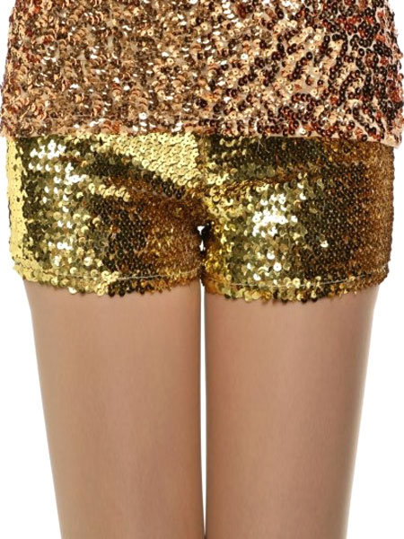 Shiny Sequin Dress Short Stretchy Dance Costume