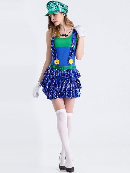 Super Mario Bros Costume For Woman Girl Holloween Costume