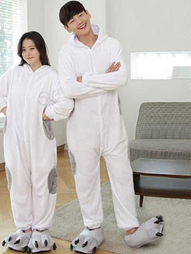 Kigurumi Pajamas Baymax Onesie Flannel Animal Couple Costume Outfits