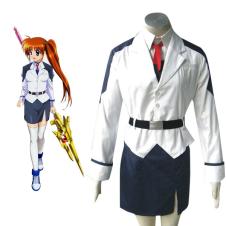 Mahou shoujo Magical Girl Lyrical Nanoha Takamachi Cosplay Costume