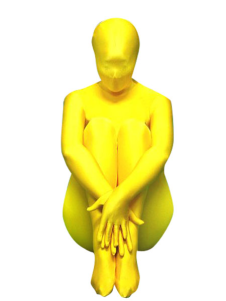 Yellow Zentai Suit Lycra Spandex Full Bodysuit
