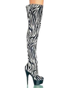 Zebra Stripe 5 710 High Heel Over The Knee Sexy Boots