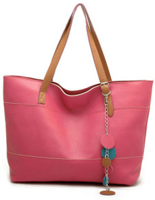 461530cm Fashion Watermelon Red Simple Sweet PU Womens Handbag