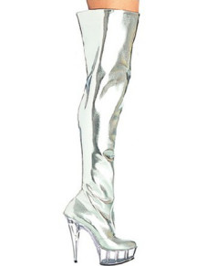 5 710 High Heel 1 710 Platform Light Patent Leather Sexy Boots For Women