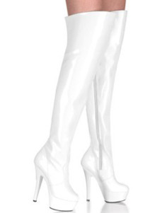 White 5 710 High Heel 1 710 Platform Patent Leather Over the Knee Womens Sexy Boots