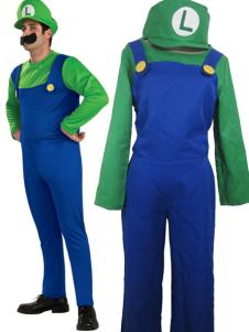 Super Mario Bros Luigi Mario Cosplay Costume