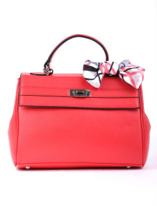 291323cm Classical Red Cowhide Butterfly Decoration Womens Tote Handbag