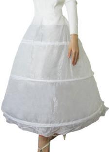 White OneTier Ankle Length Wedding Bridal Hoop Petticoat