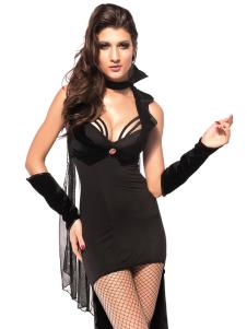 Halloween Deluxe Black Vampire Costume