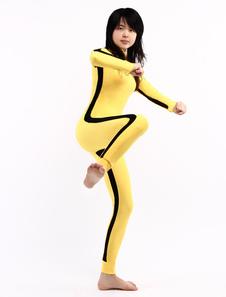 Zentai Suit Yellow Lycra Spandex Unisex Bodysuit For Halloween
