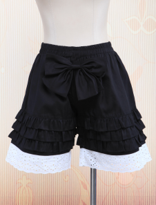 Cotton Black Lace Lolita Bloomers