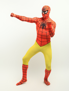 Orange Yellow Lycra Spandex Zentai Suit Inspired by Spiderman