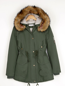 Hooded Parka Coat With Cotton Lining