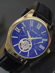 Image of Orologio da uomo cronografo analogico con cintura di pelle