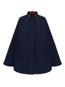 Image of Cappotto da donna Poncho Cappotto da colletto Cappotto oversize