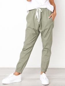 Image of Pantaloni della tuta skinny con coulisse e pantaloni da donna
