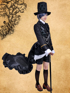 Image of Costume Carnevale Black Butler Kuroshitsuji Ciel Phantomhive ner