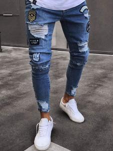 Image of Jeans strappati 2020 jeans Biker jeans Jean Blue Jeans strappati