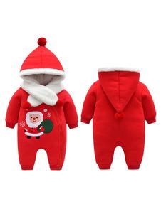 Image of Costume Carnevale Pigiama in cotone rosso natalizio con pigiama