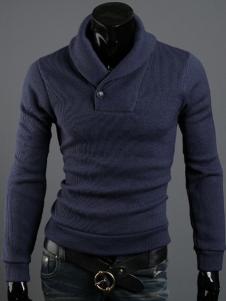 Dark Navy Terry Long Sleeve Mens Sweatshirt