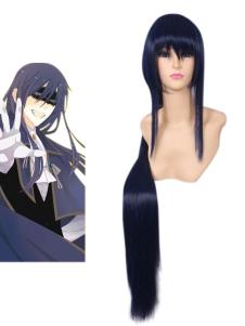Halloween Blue Inu Boku Secret Service Shoukiin Kagerou Cosplay Wig