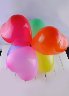 MultiColor Heart Shape Wedding Balloons 100 Pcs