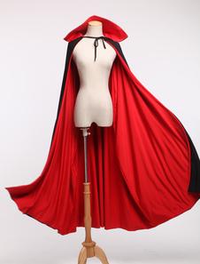 Red Spandex Vampire Zentai Poncho For Halloween