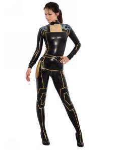 Sexy Latex  Catsuit Black Ninja Bodysuit