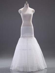 Quality White Polyester ALine Slip Wedding Petticoat for Brides