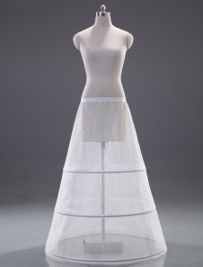 Great White Polyester ALine Slip Bridal Wedding Petticoat