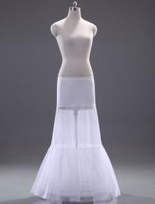 White OneTier Fashion Mermaid and Trumpet Wedding Petticoat
